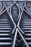 Frosted Railway Lines Stock Photos