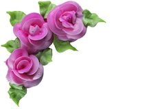 Frosted Roses. Roses created with frosting, isolated on white Stock Image