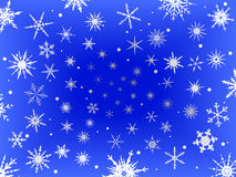 Frosted Snow Border -  Blue Royalty Free Stock Images