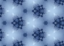 Frosted snowflake background Royalty Free Stock Images