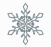 Frosted snowflake ornament Royalty Free Stock Photography