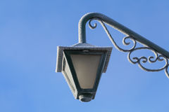 Frosted street light in winter Stock Photography
