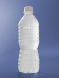 Frosted Water bottle on blue Stock Photo