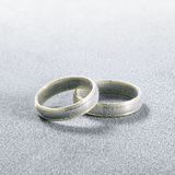 Frosted wedding rings Royalty Free Stock Image