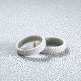 Frosted wedding rings Royalty Free Stock Images
