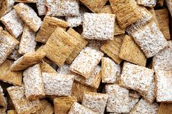 Frosted wheat cereals Stock Image