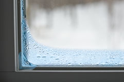 iced up window Royalty Free Stock Photography
