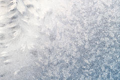 Frosted window with tracery Royalty Free Stock Photo