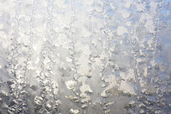 Frosted Window in Winter Background Royalty Free Stock Images