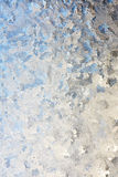 Frosted Winter Window Glass Background Stock Photos