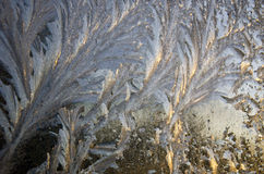 Frosted winter window glass surface background Stock Photography
