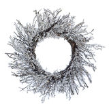 Frosted wreath Royalty Free Stock Images