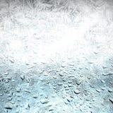 Frosthintergrund, schmelzen weg Stockfoto