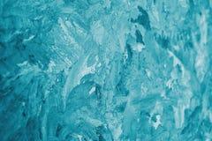 Frostig bakgrund för abstrakt turkos Arkivfoton