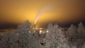 Frostig natt Royaltyfri Fotografi