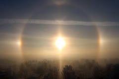 Frostig sol Royaltyfria Foton
