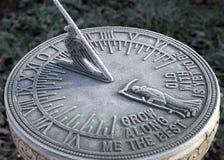 frostig sundial Fotografering för Bildbyråer