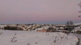 frostig vinter för morgonnatursnowfall Arkivbilder
