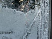 frostigt fönster Arkivbild