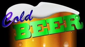 Frostigt fragment av exponeringsglas med ljust öl på en svart bakgrund Royaltyfria Bilder