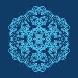 Frostigt snöra åt som snöflingan eller den djupfrysta prydnaden på exponeringsglas vektor illustrationer