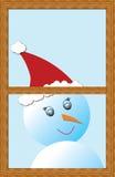 Frostigt snowmanen Fotografering för Bildbyråer