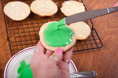 Frosting Cookies Stock Photo