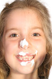 Frosting on face. Photo of frosting on face Stock Photo