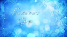 Frosting Window Seasons Greetings 4K
