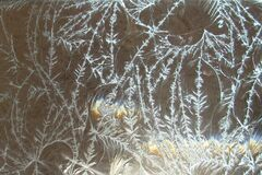 frostlike clear glass texture Stock Photography