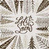 frostmorgonvykortet reflekterade vinter för tree för sun för snow för rimefloden skinande solig Royaltyfria Foton