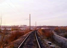 Frosty autumn morning Stock Image