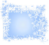 Frosty background. Blue color with snowflakes Royalty Free Stock Photo