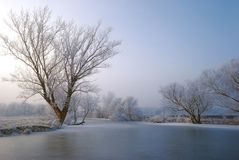 Frosty backwater Stock Image