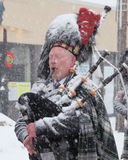 Frosty Bag Piper Stock Photos