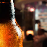 Frosty beer bottle Royalty Free Stock Image