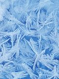 Frosty blue glass Royalty Free Stock Photography