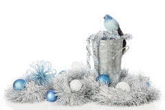 Frosty Blues and Silver stock photography