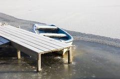 Frosty boat Stock Photos