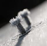 Frosty bolt Stock Photo