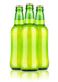 Frosty bottle of light beer Royalty Free Stock Photography