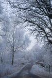 Frosty Bridge. Frosty New Years Day near the river Dochart, Perthshire, Scotland Royalty Free Stock Image