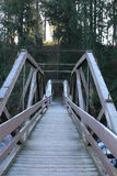 Frosty bridge Stock Photos