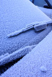 Frosty car Royalty Free Stock Photography
