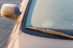 Frosty car Stock Image