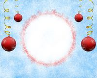 Frosty christmas background with empty space. Frosty christmas background with empty space for the title royalty free illustration