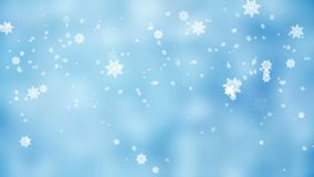 Frosty Christmas background with snowflakes gently falling, icy snowy day stock footage
