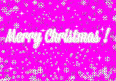 Frosty Christmas 2015. Greeting Christmas card. Frosty snowflakes on a pink background Royalty Free Illustration