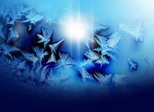 Frosty pattern on winter Royalty Free Stock Photo