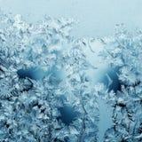 Frosty pattern on winter Stock Photos